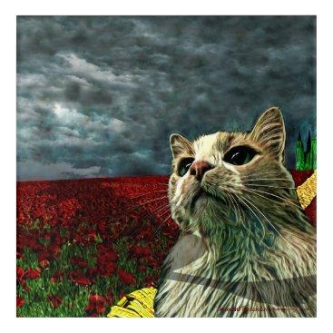 "Funny Cat ""Wizard of Oz"" Baum Acrylic Art Print"