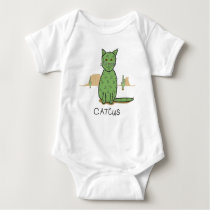 Funny Catcus Cactus Drawing Baby Bodysuit