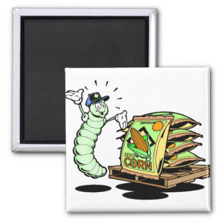 Funny Caterpillar and Seeds Magnet