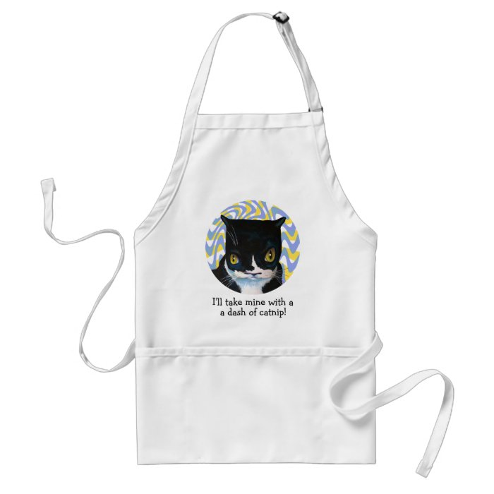 Funny Catnip Grill Apron
