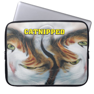 Funny Catnipped Cats Computer Sleeve