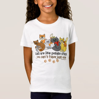 Funny Cats are like potato chips T-Shirt
