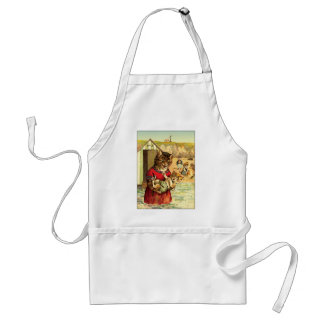 Funny Cats at the Beach - Louis Wain Adult Apron