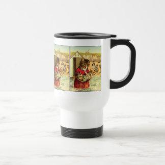Funny Cats at the Beach - Louis Wain Travel Mug