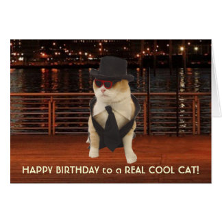 Funny Cats Birthday for Male Relative Card