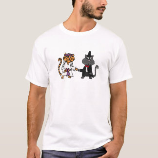 Funny Cats Bride and Groom wedding Art T-Shirt