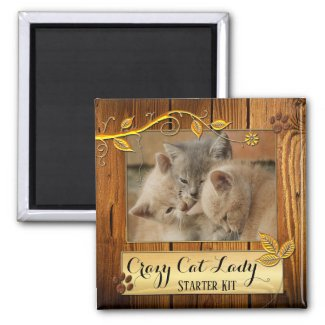Funny Cats Crazy Cat Lady Photo Magnet