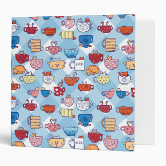 Funny cats in cups binder