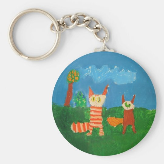 Funny Cats Keychain