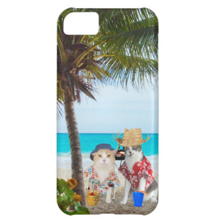 Funny Cats on the Beach Case For iPhone 5C
