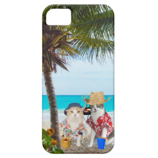Funny Cats on the Beach iPhone 5 Case