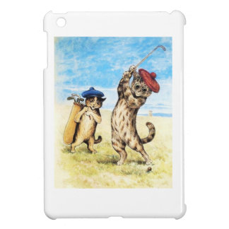 Funny Cats Playing Golf Caddy Design iPad Mini Case