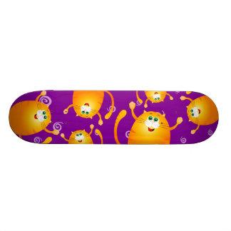 Funny cats, skate skateboard deck