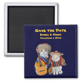 Funny Cats South of the Border Beach Wedding Magnet
