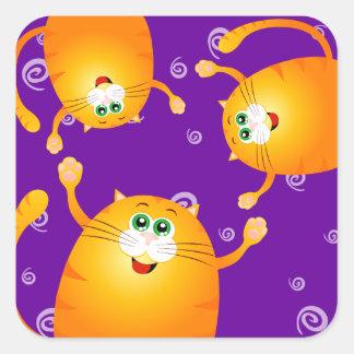 Funny cats, sticker