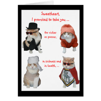 Funny Cats Valentine/Anniversary Card