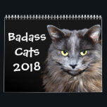 "Funny Cats with Catitude Calendar<br><div class=""desc"">All the favorite &quot;badass&quot; cat pictures in one calendar to make you smile every month of the year.</div>"