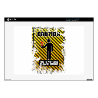 "Funny Caution Satan 15"" Laptop Skin"