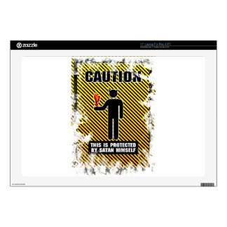 "Funny Caution Satan Decal For 17"" Laptop"