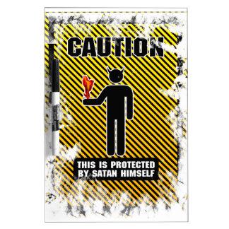 Funny Caution Satan Dry-Erase Board