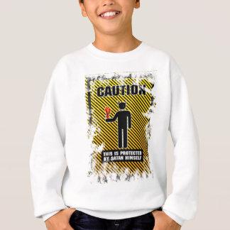 Funny Caution Satan Sweatshirt