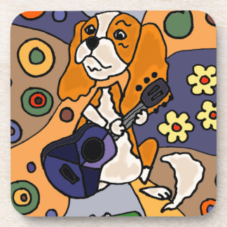 Funny Cavalier King Charles Spaniel Dog Abstract Coaster