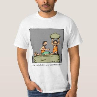 Funny Caveman Anesthesiologist Humor Tee Shirt