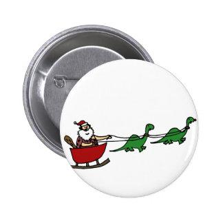 Funny Caveman Santa Claus 2 Inch Round Button