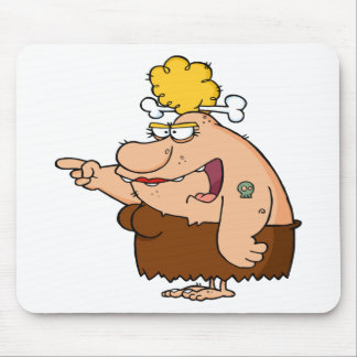 Funny Cavewoman Mouse Pad