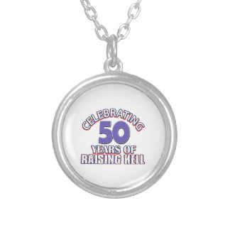 Funny Celebrating 50 years of raising hell Necklace