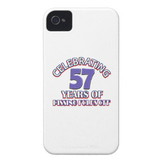 Funny Celebrating 57 years of raising hell iPhone 4 Case