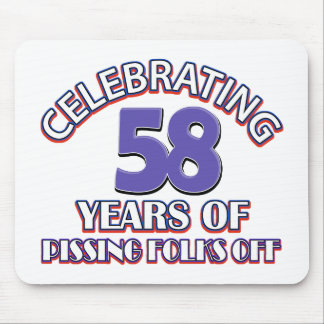 Funny Celebrating 58 years of raising hell Mouse Pad