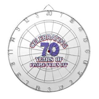 Funny Celebrating 70 years of raising hell Dart Board