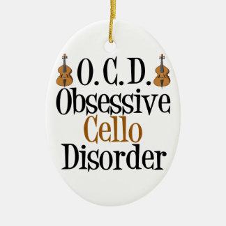Funny Cello Ceramic Ornament