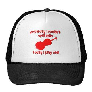 funny cello trucker hat