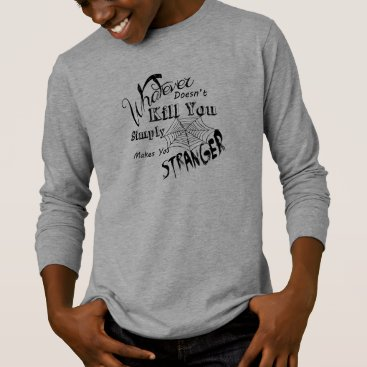 Halloween Themed Funny Chalk Art.... Stranger T-Shirt