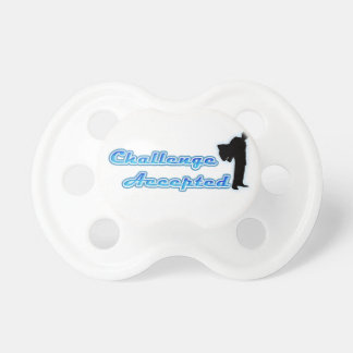 Funny Challenge Accepted BooginHead Pacifier
