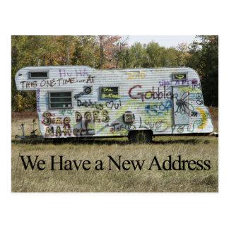 Funny Change of Address Card - Graffiti Trailer
