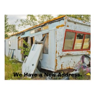 Funny Change of Address Card: Trailer Home