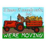 Funny Change of Address Squirrel We've Moved Postcards