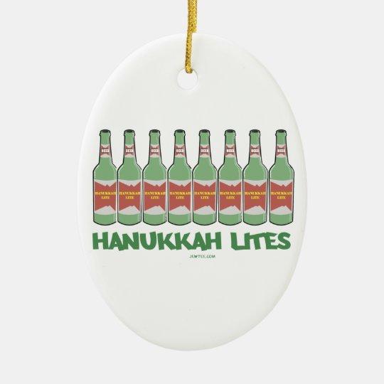 FUNNY  CHANUKAH HANUKKAH LITES GIFTS CERAMIC ORNAMENT