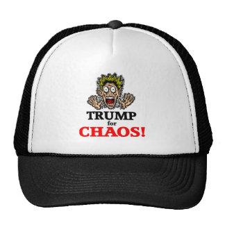 funny chaos trump trucker hat