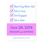 Funny Checklist Save the Date Post Card