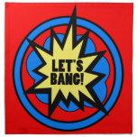 Funny Cheeky Let's Bang! Explosive Firework Gift Printed Napkin