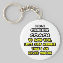Funny Cheer Coach T-Shirts and Gifts Basic Round Button Keychain