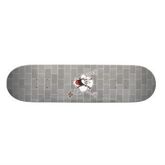 funny cheering homerun baseball cartoon skateboard deck