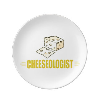 Funny Cheese Lover Porcelain Plates