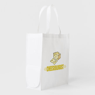 Funny Cheese Reusable Grocery Bag
