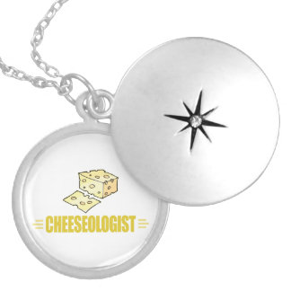 Funny Cheese Round Locket Necklace