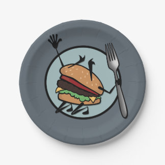 FUNNY CHEESEBURGER PAPER PLATE